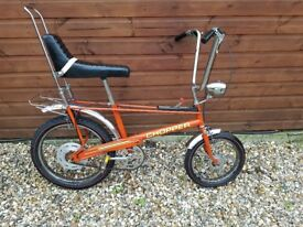 Raleigh chopper MK2 1977 manufactured by Rudge Whitworth unique very rare