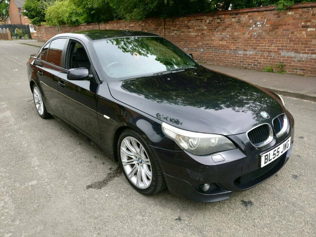 2005 black bmw 520d m sport e60 2 0 diesel 530d in. Black Bedroom Furniture Sets. Home Design Ideas