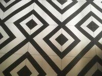 Vinyl flooring black and white