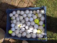 100 GOLF BALLS REQUIRE GOOD CLEAN VARIOUS MAKES
