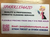 Domestic cleaning / housework and commercial cleaning / end of tenancy cleans / one -off cleans