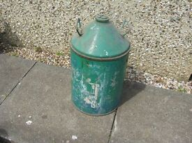 Aluminium can/drum for holding liquids or make good ornament