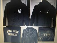 S/M Mens Next leather hooded coat & new NYC coach jacket