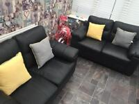2/2 leather sofas