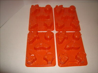 4 HALLOWEEN Jello Molds JELLO JIGGLER Pumpkins Ghost Bats Cats Witches 20 Total - Jello Jiggler Molds Halloween