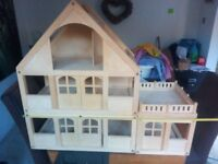 Wooden Dolls House - age 2 to 6