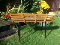 Atomic Wooden Antique/art deco/plant stand, 60s, with two zinc trays in excel condition,£100, PLANTS