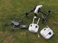 Dji inspire 1 with x3 camera and 3 battery's, dual remote