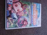 Wii game super monkey ball banana blitz