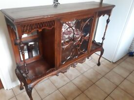 Beautiful antique sideboard/china-cabinet.