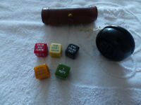 Set of Golf Dice and Old Lumar Yo-Yo (Black)