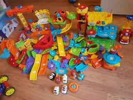 Huge bundle of toot toot cars and tracks