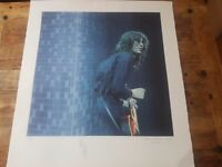 Signed Jimmy Page print rock memorabilia Led Zeppelin