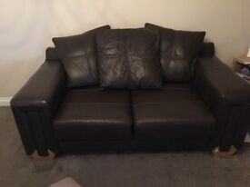 Brown Leather Sofas - GONE!