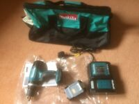 New Makita DHP453 LXT cordless li-ion combi drill, 3Ah li-ion battery, charger and tool bag