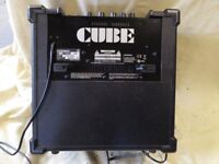 Used Roland Cube 20XL amplifier, mains power, two channels (voice and guitar) good but not perfect.
