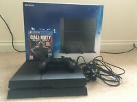 BOXED SONY PS4 500GB BLACK WITH BLACK OPS 3 + 1 CONTROLLER (HARDLY USED)
