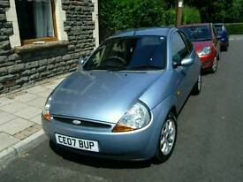 Ford KA Zetec Climate 1.3 07 plate, 49200 miles, MOT until May 18, Tax until Nov 17