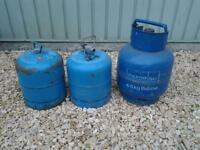 2 x Camping Gaz Bottles and 1 x 4 Kilo Butane Gas Bottle