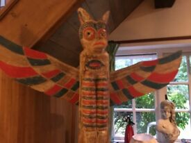 TOTEM POLE ...HAND CARVED ......can deliver .