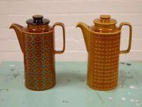 Vintage Retro 70's Hornsea Coffee Pots