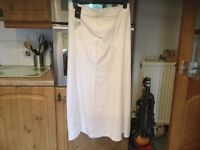 NEXT white skirt size 12. BRAND NEW WITH TAGS. BARGAIN PRICE. RRP £30 on label.