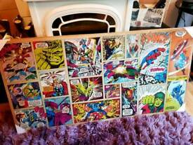 Brand new 2x very large marvel canvases
