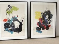 Abstract Miotte limited edition signed lithograph prints
