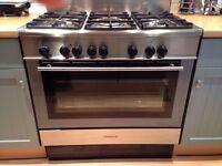 Kenwood CK304FS Dual Fuel Range Cooker 5 burner Gas Hob fan Oven stainless steel