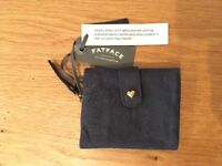 FAT FACE leather heart fold over purse (NEW)