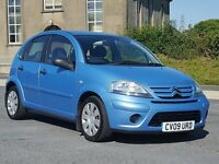 2009 Citroen C3 1.6HDi 16v VTR, 5dr, £30 Road Tax, New MOT and Just Serviced with History, Two Keys
