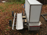 Sprinter motorhome extended towbar, storage box and ramps