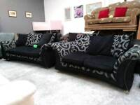 Black and grey 3&2 lovely sofas