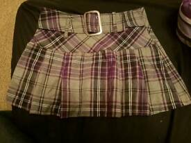Ladies grey and purple skirt