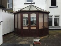 Wooden conservatory approx 10 x 10ft FREE FREE!!!