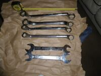 6 x heavy duty spanners ( ring and open )