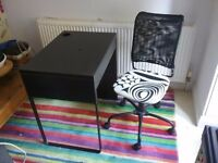 Ikea desk with drawer and matching swivel chair