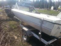 boat motor and trailor
