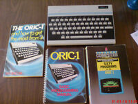 Vintage Computer - Oric 1, Books, and 2 Old Games