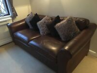 Leather Sofa and 2 armchairs - Marks and Spencer Abbey Suite
