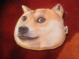Novelty Dog Animal Face Purse Brand New Unwanted Gift