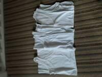 Ladies White Vests Size 14