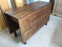 Antique drop-leaf oak table
