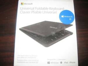Microsoft Universal Foldable Keyboard. Wireless. Compact Design. Spill Resistant. Work with Samsung / iPhone / Tablet