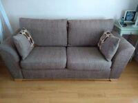 2 and 3 seater fabric sofa.