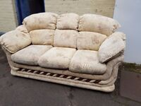 Fabric 3 seater sofa. FREE delivery in Derby