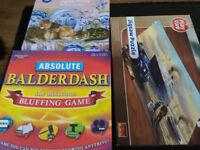 2x box of puzzles & balderdash game.