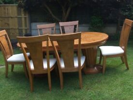 Solid Maple Dining Table and Chairs.