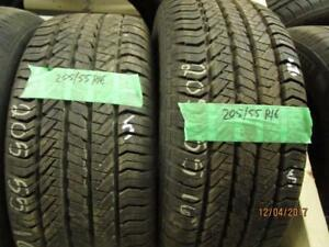 205/55R16 2 ONLY USED GENERAL ALL SEASON TIRES LIKE NEW