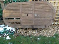 Garden furniture, table, chairs, folding, wood, garden, home upcycle